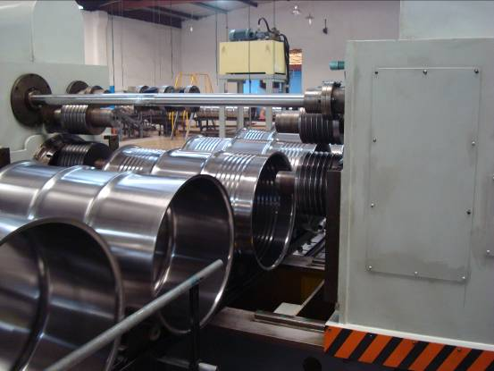 Steel drum production line